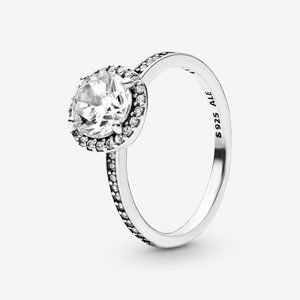 Pandora Round Sparkle Halo Ring